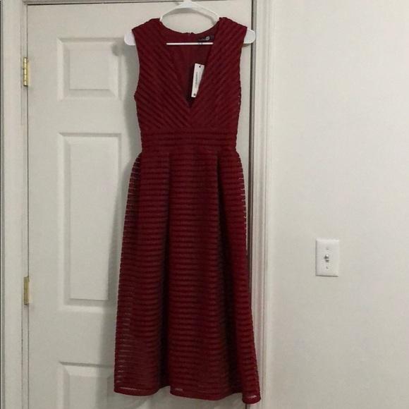 Boohoo Dresses & Skirts - Plunge Midi Skater Dress